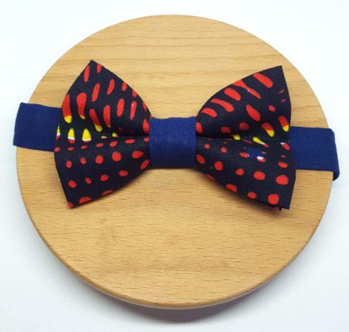 noeud papillon wax bleu, rouge et jaune