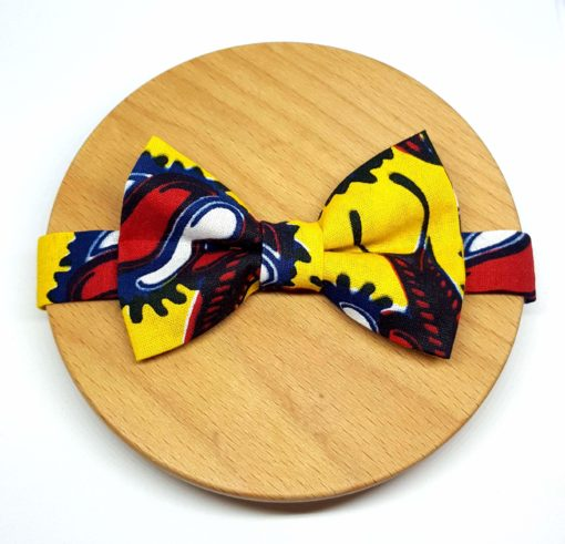 noeud papillon wax escargot jaune rouge