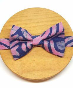 noeud papillon batik rose bleu violet