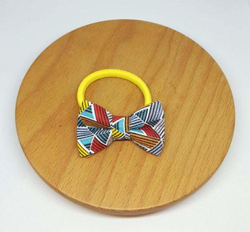 élastique noeud triangles géométrique rouge bleu jaune