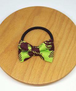 élastique noeud wax vert marron fleurs