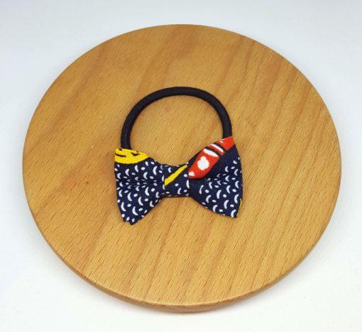 elastique noeud wax bleu jaune rouge