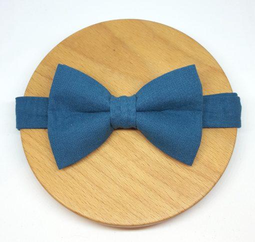 noeud papillon uni bleu canard