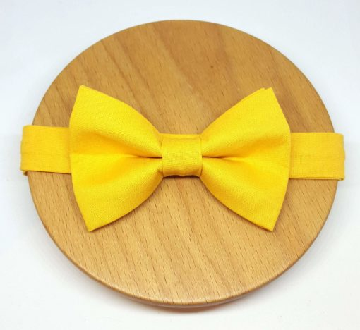 noeud papillon uni jaune