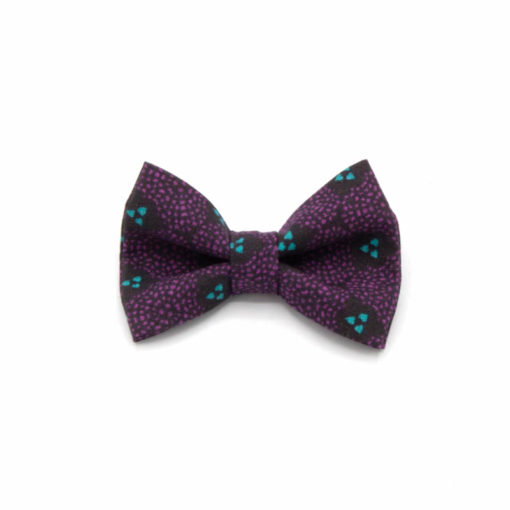 pince noeud violet mauve bleu