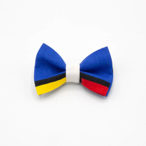pinve noeud mondrian bleu rouge jaune blanc noir