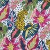 tissu-en-cretonne-imprime-jungle-fushia