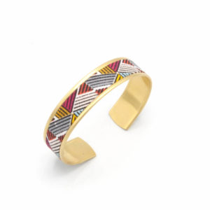 bracelet triangle rose rouge jaune
