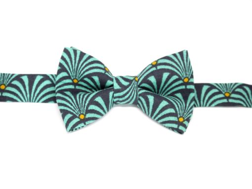 noeud papillon eventail bleu