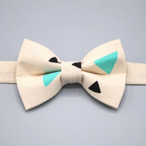 noeud papillon triangles noir bleu turquoise