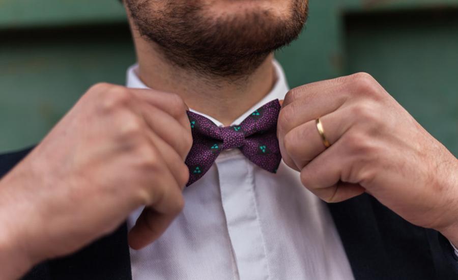 Bowcou, création de nœuds papillon tendances et colorés pour un mariage