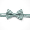 noeud papillon rayures imprimé marin bleu vert d'eau