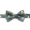 noeud papillon éventails bleu vert jaune